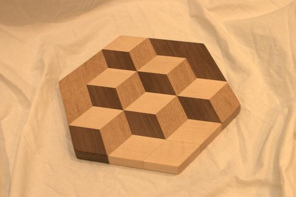 Necker Cubes Trivet