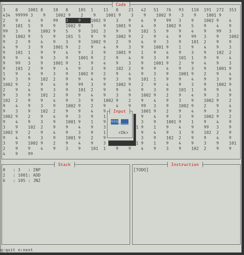 An Intcode debugger in Rust